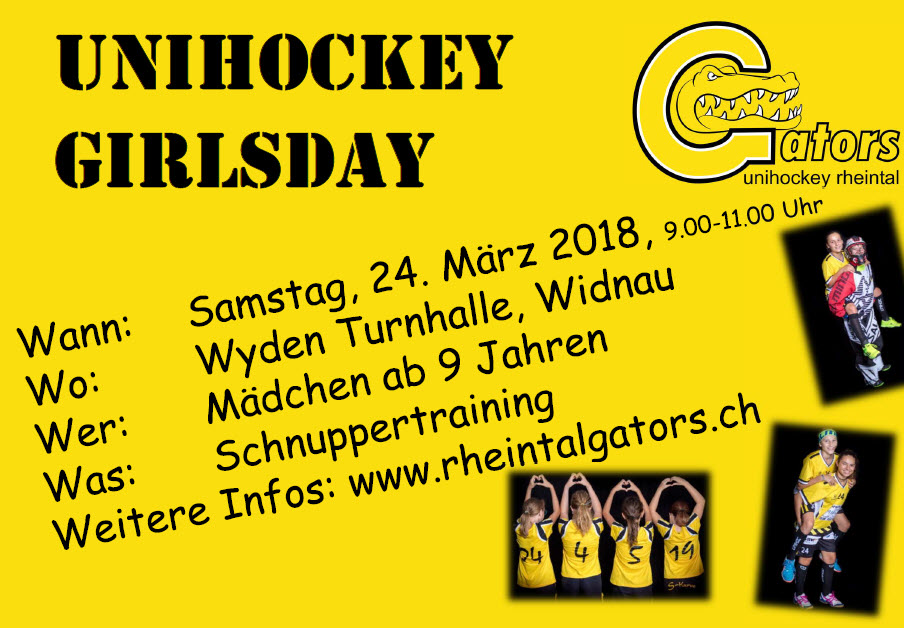 Unihochey Girlsday 24.03.2018